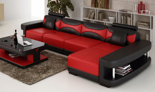 CHESHIRE (F3001C) CHAISE LOUNGE SUITE EXCLUDING COFFEE TABLE - CHOICE OF LEATHER AND ASSORTED COLOURS AVAILABLE