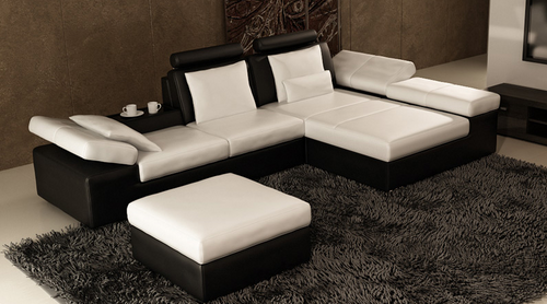 HESNEY  2S + CHAISE  + FOOT STOOL  LOUNGE SUITE (K5014C)  - CHOICE OF LEATHER AND ASSORTED COLOURS AVAILABLE