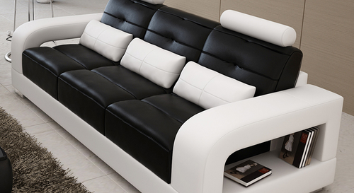 SENCHEL  3 SEATER LEATHERETTE SOFA  (MODEL - L6008D) - CHOICE OF LEATHER AND ASSORTED COLOURS AVAILABLE