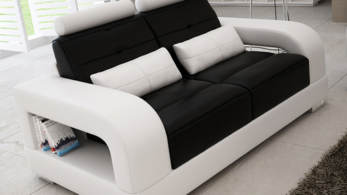 SENCHEL 2 SEATER LEATHERETTE SOFA   (MODEL - L6008D) - CHOICE OF LEATHER AND ASSORTED COLOURS AVAILABLE