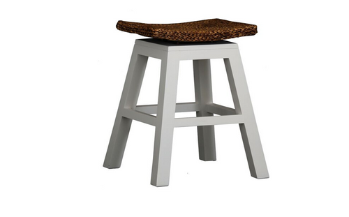 ORNAMENTAL  BAR STOOL  (BR 002 WV) - SEAT: 760(H) - WHITE