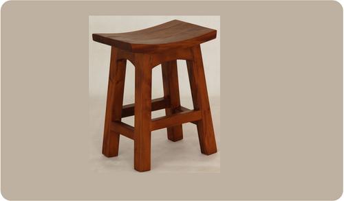 ZIMA WOODEN BAR STOOL (BR 048 WD) - SEAT: 480(H) - LIGHT PECAN