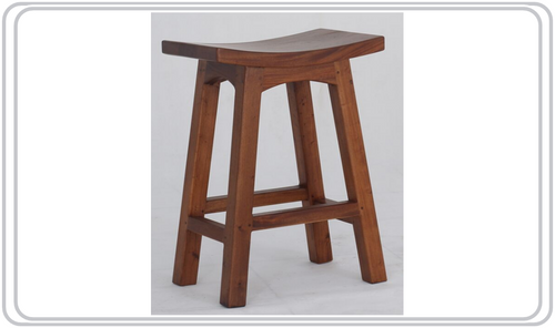 LATSON WOODEN BAR STOOL / KITCHEN BENCH (BR067WD) - SEAT: 670(H) - LIGHT  PECAN