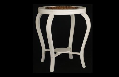 ORNAMENT BAR TABLE  - 1000(H) * 700(D) - WHITE