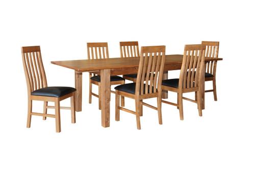 ECCO EXTENDABLE DINING TABLE - 1800 - 2400(W)  - LIGHT OAK