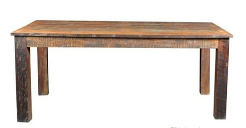 RUSTIC DINING TABLE (WORL-009-LH) - 1500(W) X 1500(D) - LIGHT HONEY