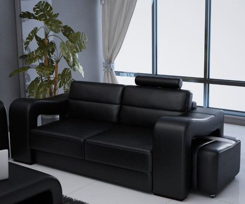 BENSALEM 2 SEATER + 2 SEATER  LEATHERETTE   LOUNGE SUITE (MODEL-F3008D)  - ASSORTED COLOURS