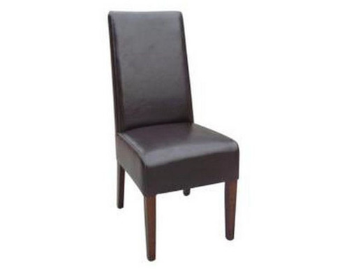 SWIZZ   LEATHERETTE  CHAIR  WITH HONEY  LEGS (VCH-369)  - ASSORTED COLOURS