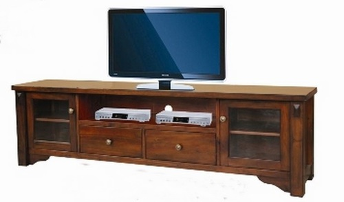 FABULOS  2 DOOR 2 DRAWER LOWLINE ENTERTAINMENT  UNIT - (MODEL-16-9-14-14-1-3-12-5) -   2000(W)  - HAZELNUT