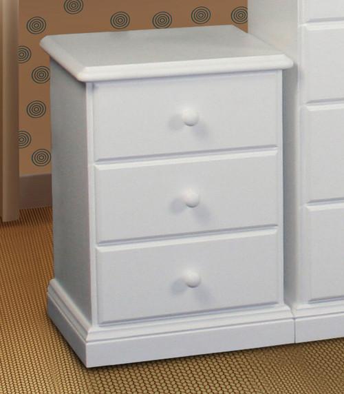 SIERRA (CSA103) BEDSIDE (MODEL 19-1-22-1-14-14-1-8) - WHITE, ANTIQUE WHITE OR WHITEWASH