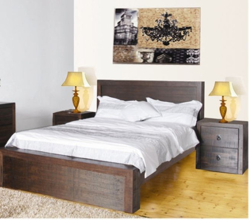 ASIDA QUEEN  3 PIECE   BEDROOM SUITE  ( MODEL - 2-21-3--15-12-9-3)  - RUSTIC