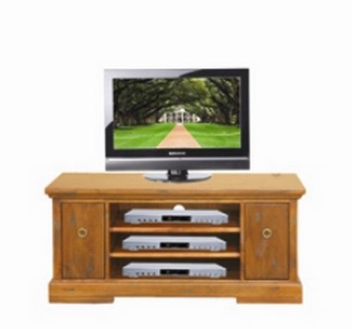DONSILIA 2 DOOR  LOWLINE TV  ENTERTAINMENT UNIT  - ( MODEL- 11-1-11-1-4-21 )  - 1200(W)  - RUSTIC