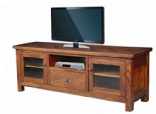 DUOLYN  AMERICAN OAK    LOWLINE TV UNIT - (MODEL16-1-18-1-13-15-21-914-20) -   (1650(W) - AS PICTURED