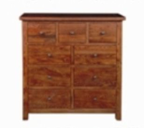 DUOLYN  9 DRAWER TALLBOY (  MODEL16-1--1-13-15-21-914-20)   - WARM TEAK