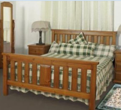 KING SINGLE LUNAMIS BED  - (MODEL 3-8-1-12-20-15-14) -  AVAILABLE IN CHESTNUT OR WALNUT