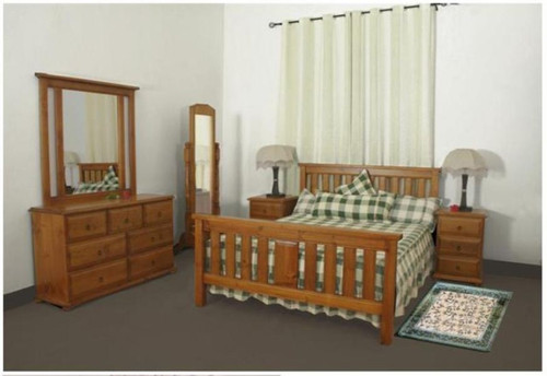 LUNAMIS SINGLE OR KING SINGLE 4 PIECE   BEDROOM SUITE  (MODEL 3-8-1-12-20-15-14) -  AVAILABLE IN CHESTNUT OR WALNUT