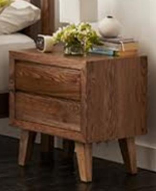 OHKLAHOMA   2 DRAWER BEDSIDE  (- MODEL- 1-19-3-5-14-19-9-15-14 ) AS PICTURED