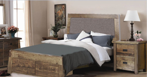 TARTIS  QUEEN 3 PIECE BEDSIDE BEDROOM SUITE)  - (MODEL-19-25-12-22-1-14)