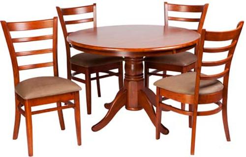 JAGUAR FIXED TOP ROUND TABLE ONLY - 1060 (DIAM) - ANTIQUE OAK