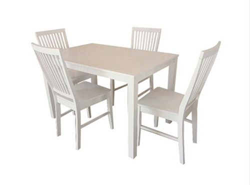 MAY 5 PIECE DINING SETTING 1200(W) X 750(D) - WHITE