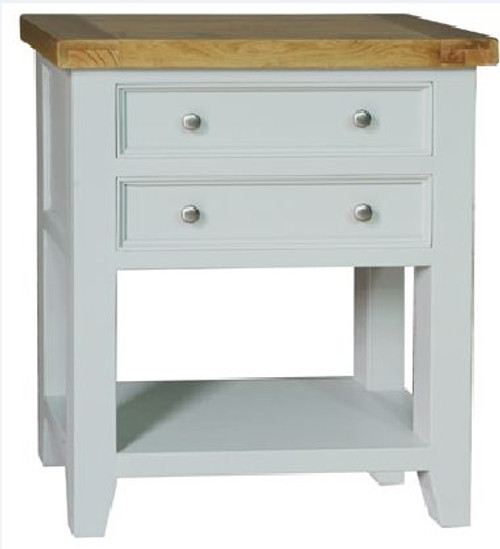 BARRITZ  ( Y-SC006/W)  SMALL CONSOLE TABLE  -820(H) X  700(W) X 360(D)- WEATHERED OAK / ICED WHITE