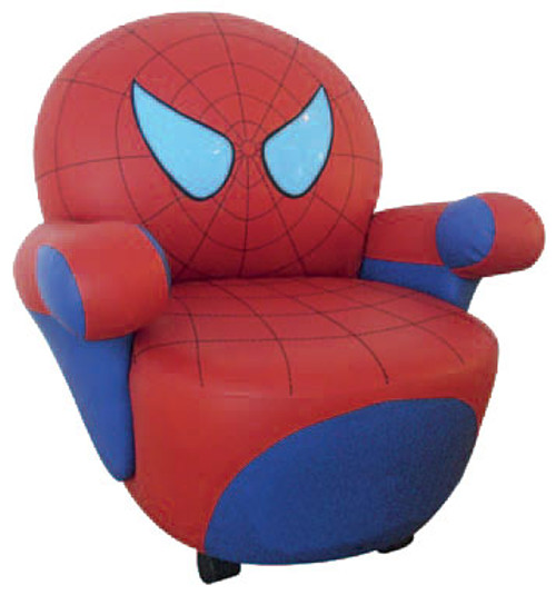 SPIDER CHAIR (K-57) WITH SWIVEL - BLUE AND RED