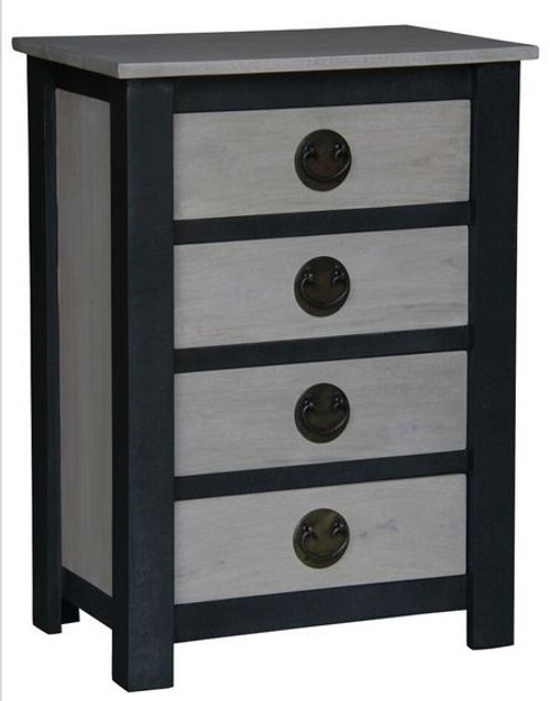 IRVINE  4 DRAWER LAMP  TABLE (LT 004 IR) - IRON ANTIQUE WASHED