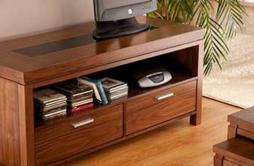 NEVADA TV ENTERTAINMENT UNIT WITH 2 DRAWERS WITH 1 OPEN SHELF - 1200(W) x 400(D)