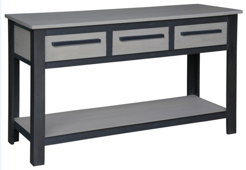 DAVIS  3 DRAWER CONSOLE TABLE (ST 003 DVS) - 800(H) X 1400(W) X  500(D) - IRON ANTIQUE WASHED