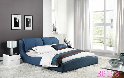 QUEEN IRENE  FABRIC   BED (B6168) - ASSORTED COLOURS
