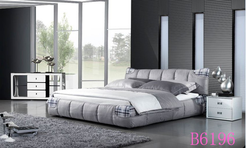 QUEEN  CHEMSFOLD FABRIC   BED (B6196) - ASSORTED COLOURS
