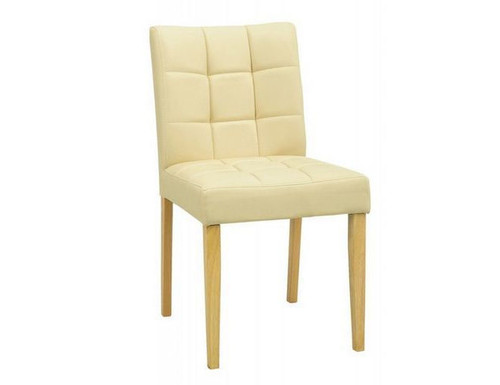 DAVIN MODERN LEATHERETTE   DINING CHAIR (SET OF 2) -  CREAM