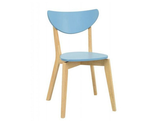 NAIDA  SCANDINAVIAN DINING CHAIR (SET OF 2 ONLY)  - DUST BLUE