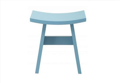 HAMO WOODEN STOOL - SEAT: 440(H)  - DUST BLUE