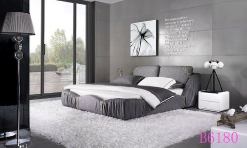 PADDINGTON (B6180)  QUEEN  3 PIECE   BEDSIDE BEDROOM SUITE WITH (#151) BEDSIDES  - ASSORTED COLOURS
