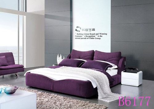 KING  SCOTTLE FABRIC BED (B6177) - ASSORTED COLOURS