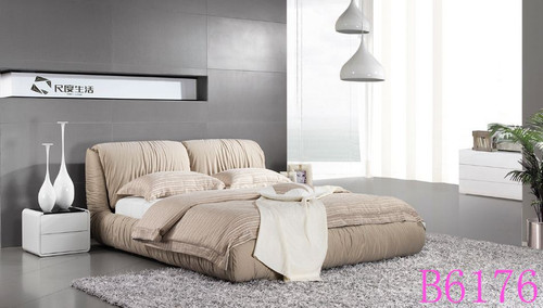 KING  AMAH  FABRIC BED (B6176) - ASSORTED COLOURS
