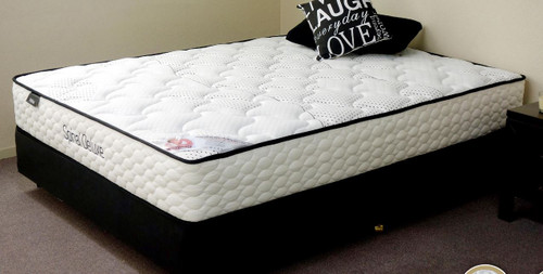 QUEEN SPINAL DELUXE POCKET SPRING ENSEMBLE (MATTRESS + BASE) WITH (SWB) BODY CARE BASE (NOT AS PICTURED) - FIRM