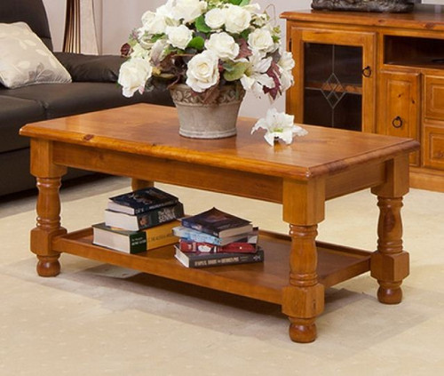 (MCOT-4C) COFFEE TABLE  - 500(H) X 1200(W) X 600(D)- OLD ENGLISH