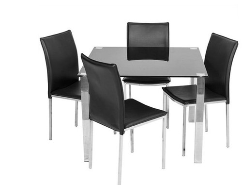 BARI 5  PIECE DINING SETTING WITH 1000(W) x 1000(D) SQUARE TABLE