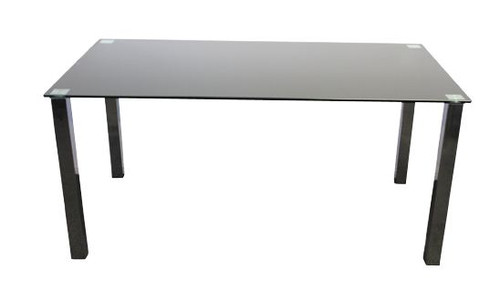 BARI 1000(W) X 1000(D)  SQUARE   GLASS  DINING  TABLE