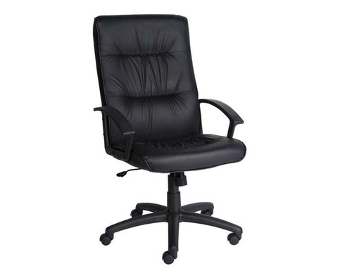 VICEROY HIGH BACK EXECUTIVE LEATHERETTE OFFICE CHAIR WITH BLACK FRAME  - BLACK