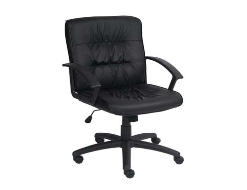 VICEROY  LOW BACK MANAGERIAL OFFICE CHAIR WITH BLACK  FRAME  - BLACK