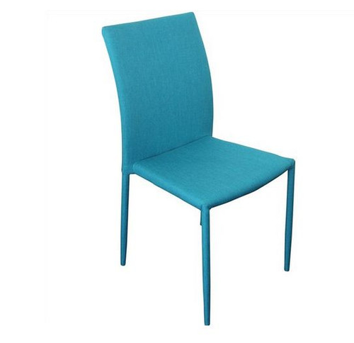 SVEN FABRIC   UPHOLSTERED DINING CHAIR  - TEAL
