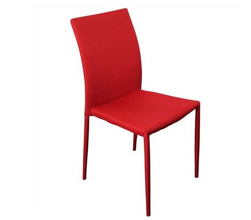 SVEN FABRIC   UPHOLSTERED DINING CHAIR  - RED