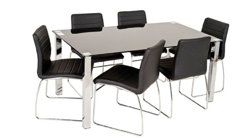 COOGEE 9  PIECE DINING SET WITH 1440(W) X 1400(D) SQUARE  TABLE