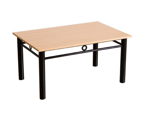OPUS 900(W) COFFEE TABLE WITH 25MM MELAMINE TOP - 460(H) X 900(W) X 600(D)