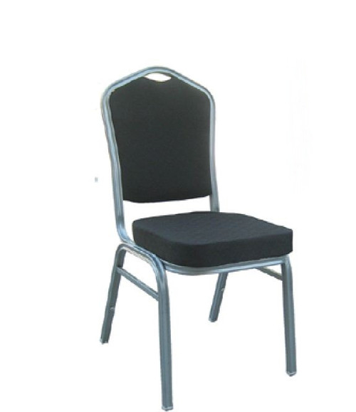 BANQUET CHAIR  -  SILVER / BLACK