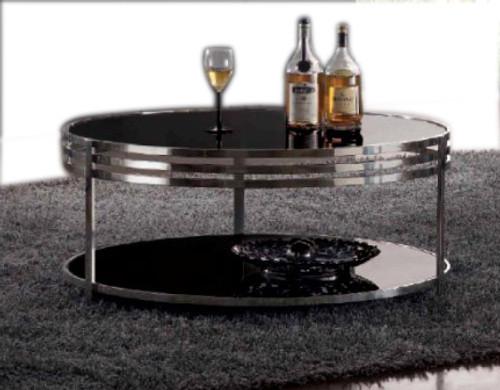 SARA  ROUND COFFEE TABLE (WD-101)  -  420(H) x 1000(DIA) -WHITE  OR BLACK