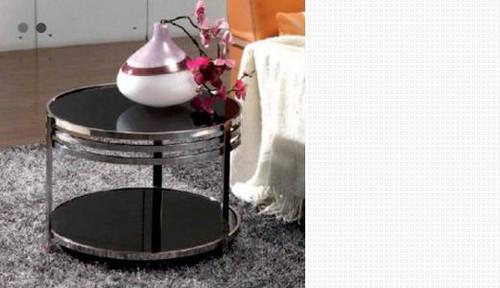 SARA  ROUND  LAMP TABLE (WD-101)  - WHITE  OR BLACK
